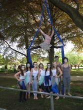 Aerial Dance Hereford Dancers and Gillian Hipp at Hereford Riverside Carnival
